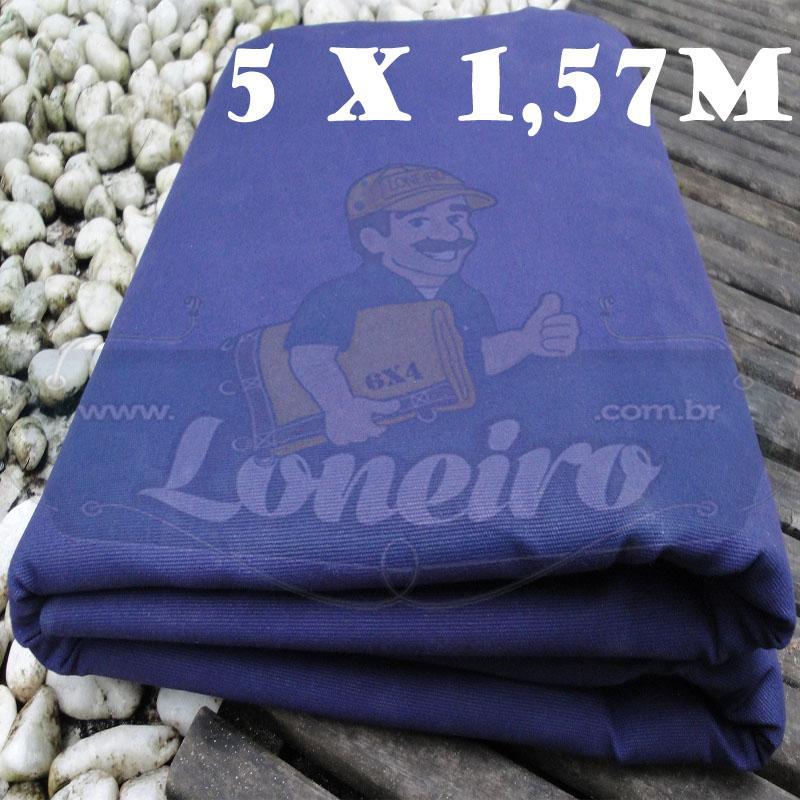 Tecido Encerado Azul Lona 08 Forte de Algodão 5,0 x 1,57m = 7,85m²