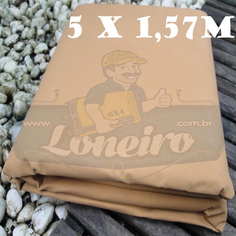 Tecido Encerado Caqui Lona 08 Forte de Algodão 5,0 x 1,57m = 7,85m²