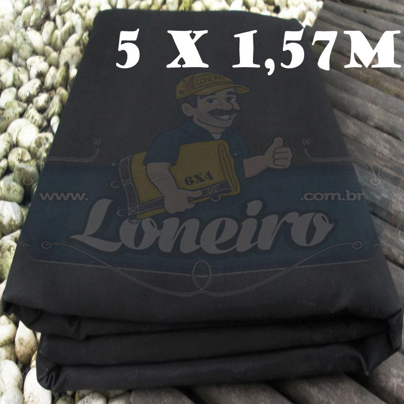 Tecido Encerado Preto Lona 08 Forte de Algodão 5,0 x 1,57m = 7,85m²