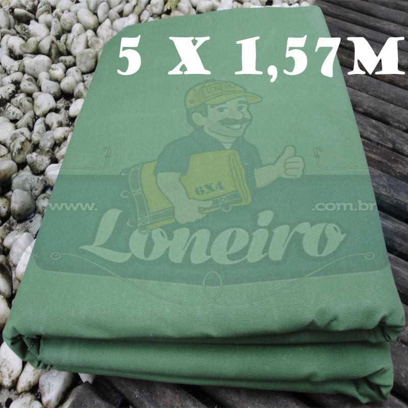 Tecido Encerado Verde Claro Lona 08 Forte de Algodão 5,0 x 1,57m = 7,85m²