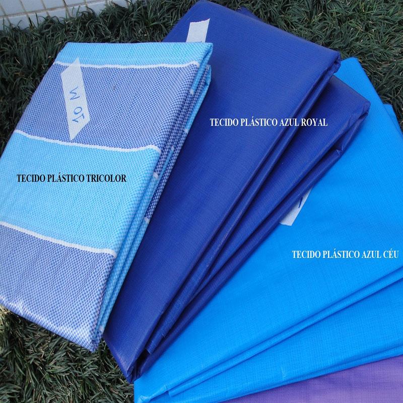 Tecido Plástico de Polietileno Azul Royal 10,0 x 2,20m = 22m²  Impermeável com 300 Micras