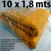 Tecido Forte RipStop Amarelo Lona de Algodão 10,0 x 1,80 metros Impermeável e Resistente