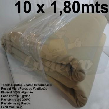 Tecido Forte RipStop Sand Areia Lona de Algodão 10,0 x 1,80 metros Impermeável e Resistente