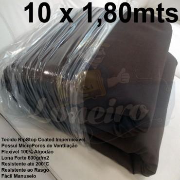 Tecido Forte RipStop Marrom Lona de Algodão 10,0 x 1,80 metros Impermeável e Resistente