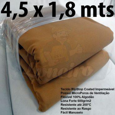 Tecido Forte RipStop Caqui Tradicional Lona de Algodão 4,5 x 1,8 metros Impermeável e Resistente