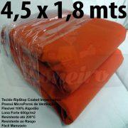 Tecido Forte RipStop Laranja Lona de Algodão 4,5 x 1,8 metros Impermeável e Resistente