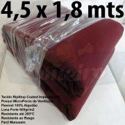 Tecido Forte RipStop Vermelho Bordô Lona de Algodão 4,5 x 1,8 metros Impermeável e Resistente