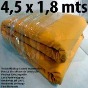 Tecido Forte RipStop Amarelo Lona de Algodão 4,5 x 1,8 metros Impermeável e Resistente