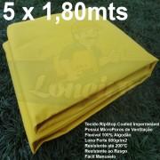 Tecido Forte RipStop Amarelo Lona de Algodão 5,0 x 1,80 metros Impermeável e Resistente