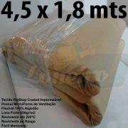 Tecido Forte RipStop Sand Areia Lona de Algodão 4,5 x 1,8 metros Impermeável e Resistente