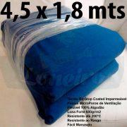 Tecido Forte RipStop Azul Lona de Algodão 4,5 x 1,8 metros Impermeável e Resistente