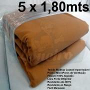 Tecido Forte RipStop Caqui Tradicional Lona de Algodão 5,0 x 1,80 metros Impermeável e Resistente