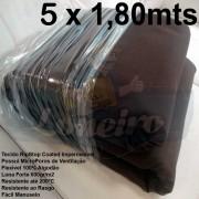 Tecido Forte RipStop Marrom Lona de Algodão 5,0 x 1,80 metros Impermeável e Resistente