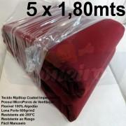 Tecido Forte RipStop Vermelho Bordô Lona de Algodão 5,0 x 1,80 metros Impermeável e Resistente