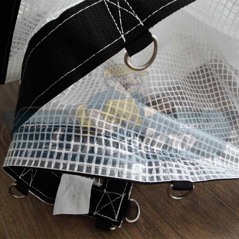 Lona 4,0 x 4,0m Transparente 400 Micras Plástica Crystal Argolas com 22 elásticos lonaflex 30cm + 20m Corda 4mm!