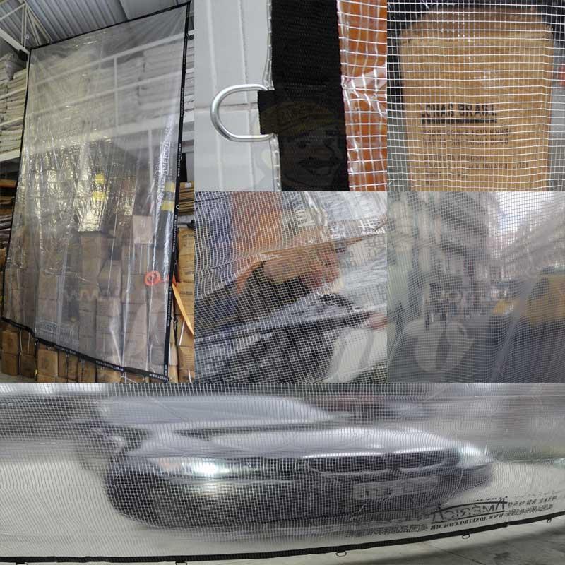 """Lona: 10,0 x 2,0m PVC Premium Crystal Vinil Transparente Impermeável AntiChamas com argolas """"D"""" INOX a cada 50cm"""