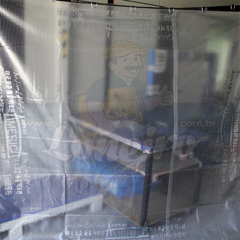 Lona 8,5 x 4,5m PVC Premium Crystal Vinil Transparente AntiChamas com 35 Extensores LonaFlex Gancho 25cm