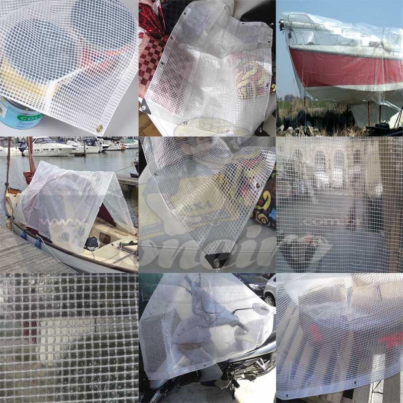 Lona: 10,0 x 8,0m Transparente 300 Micras Plástica + Ilhoses a cada 50cm com 36 Elásticos LonaFlex 30cm de brinde!