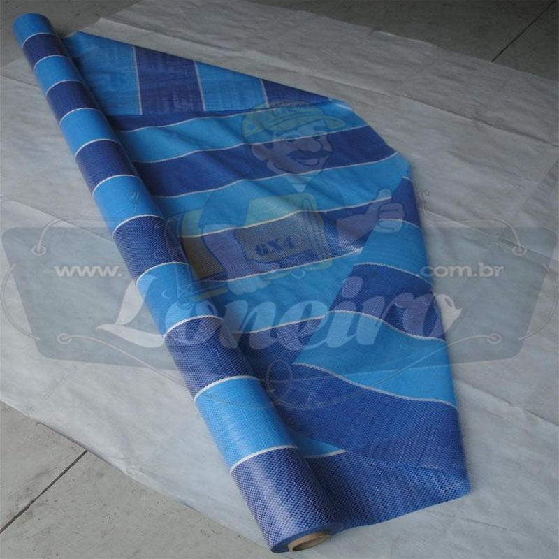 Bobina Plástica Tricolor de Polietileno 100,0 x 1,83m = 183m²
