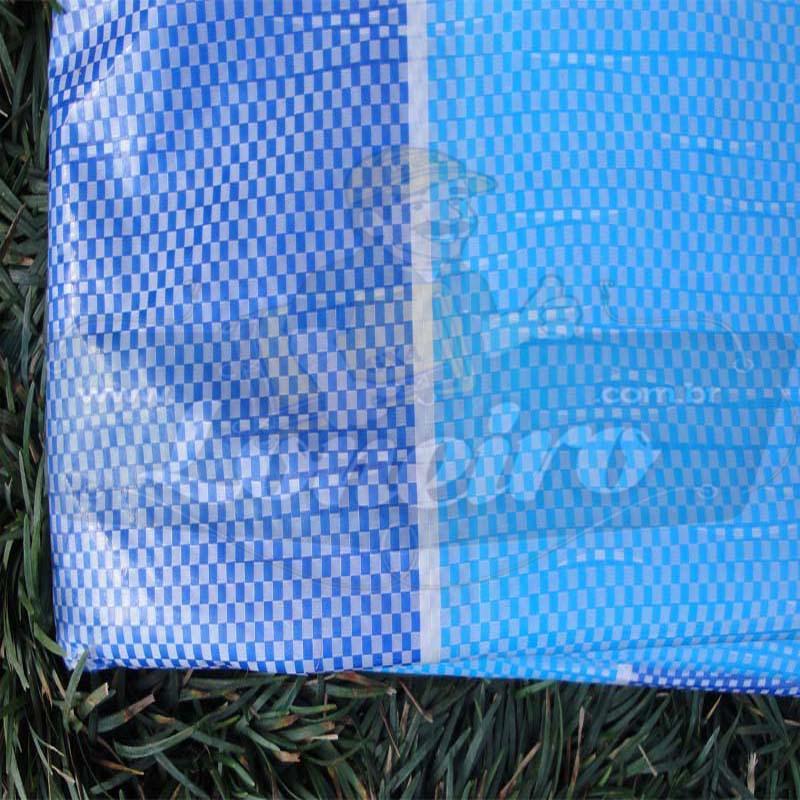 Tecido Plástico de Polietileno Tricolor 10,0 x 1,83m = 18,3m²  com 200 Micras
