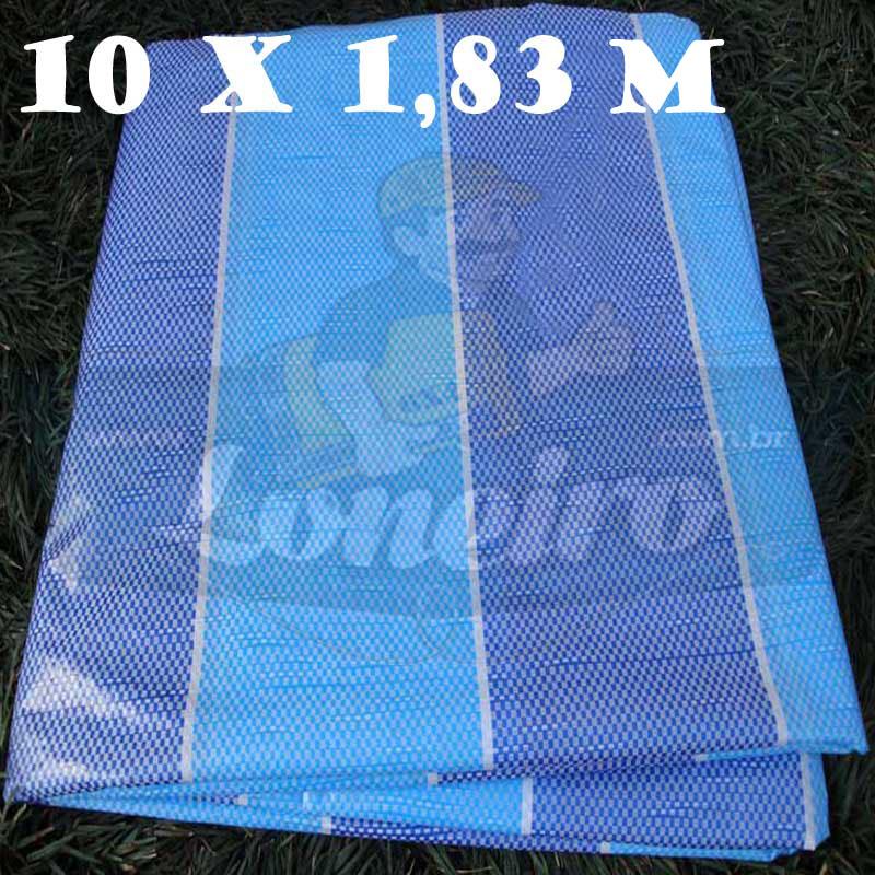 Tecido Plástico de Polietileno Tricolor 10,0 x 1,83m = 18,3m²