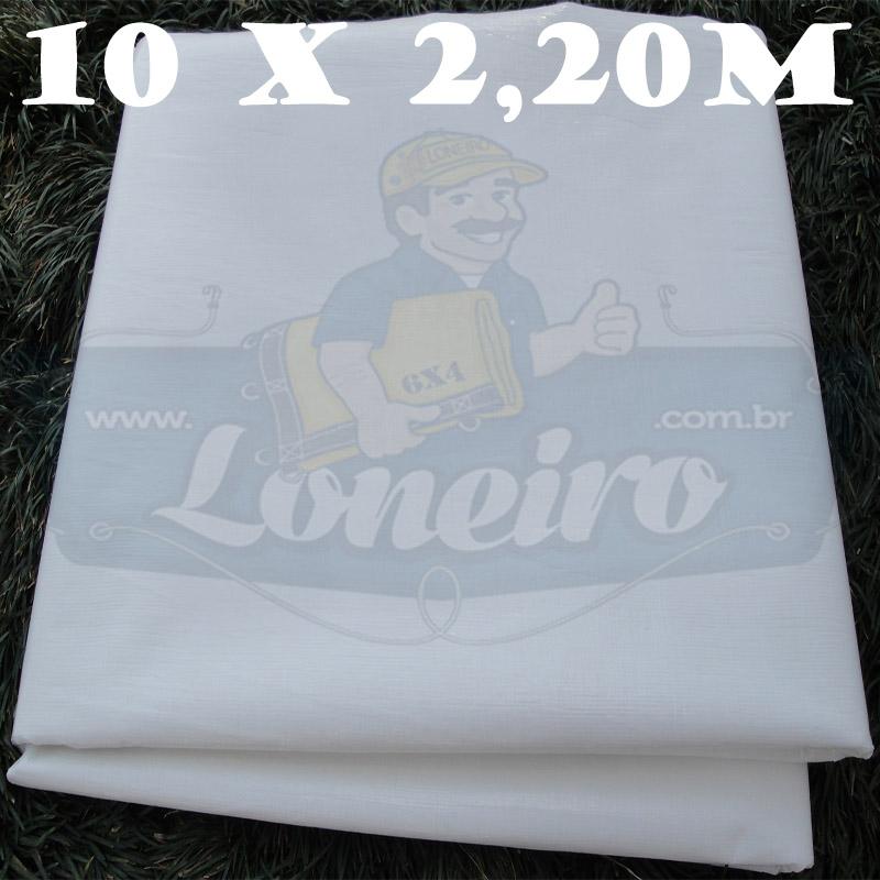 Tecido Plástico de Polietileno Branco 10,0 x 2,20m = 22m²  Impermeável com 300 Micras
