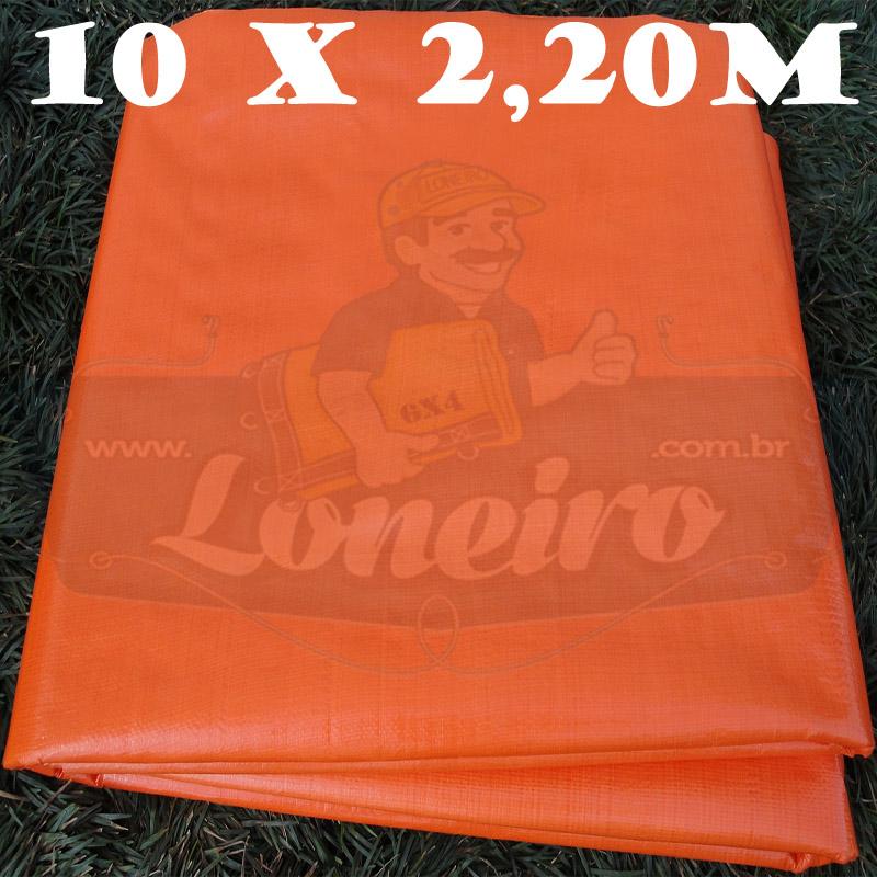 Tecido Plástico de Polietileno Laranja 10,0 x 2,20m = 22m²  Impermeável com 300 Micras