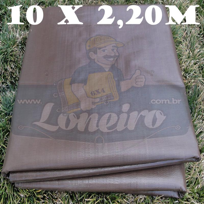 Tecido Plástico de Polietileno Marrom 10,0 x 2,20m = 22m²  Impermeável com 300 Micras