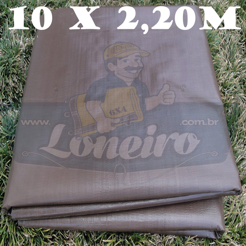 Tecido Plástico de Polietileno Marrom 10,0 x 2,20m = 22m² (15x30x40cm) 3,990 kg