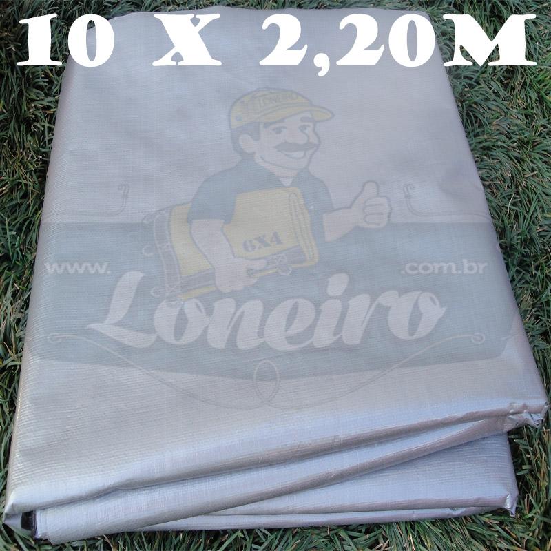 Tecido Plástico de Polietileno Prata 10,0 x 2,20m = 22m²  Impermeável com 300 Micras
