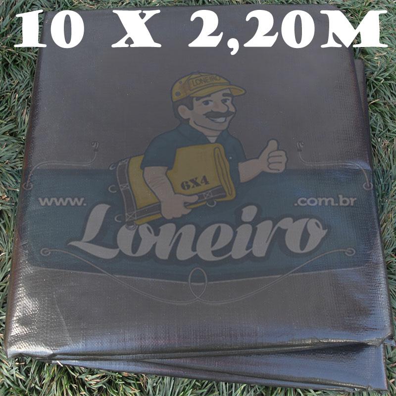 Tecido Plástico de Polietileno Preto 10,0 x 2,20m = 22m²   Impermeável com 300 Micras