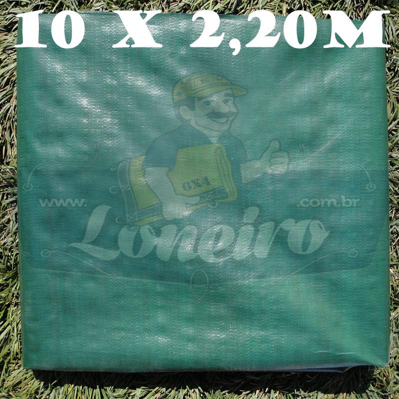 Tecido Plástico de Polietileno Verde Escuro 10,0 x 2,20m=22m²  Impermeável com 300 Micras