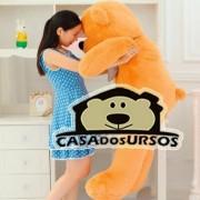 Urso de Pelúcia Gigante Caramelo 1,4 Metros ou 140cm de altura - Pelucia Grande Presente ideal para todas as idades