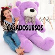 Urso de Pelucia Gigante Lilás 1,4 Metros ou 140cm de altura ideal para dar de presente a quem você ama!