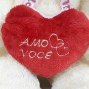 Urso de Pelúcia Creme com Coração 1,20 Metros ou 120 cm Teddy Bear Creme - Pelúcia Premium Gigante Love Amor Ideia de Presente Perfeito