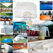 a.. Lona Branca Cobertura Tenda Projetor Telão Gazebo 300mic Loneiro Loja de Lona Palco Tenda Varanda Terraço Toldo Telhado Loneiro (4)
