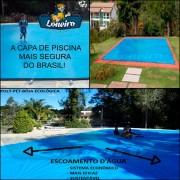 Capa para Piscina Super 6,0 x 4,0m Azul/Cinza PP/PE Lona Térmica Premium +56m+56p+3b