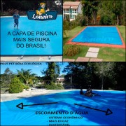 Capa para Piscina Super: 11,0 x 5,0m PE/PE Azul - Cinza Lona Térmica Cobertura Premium +80m+80p+5b