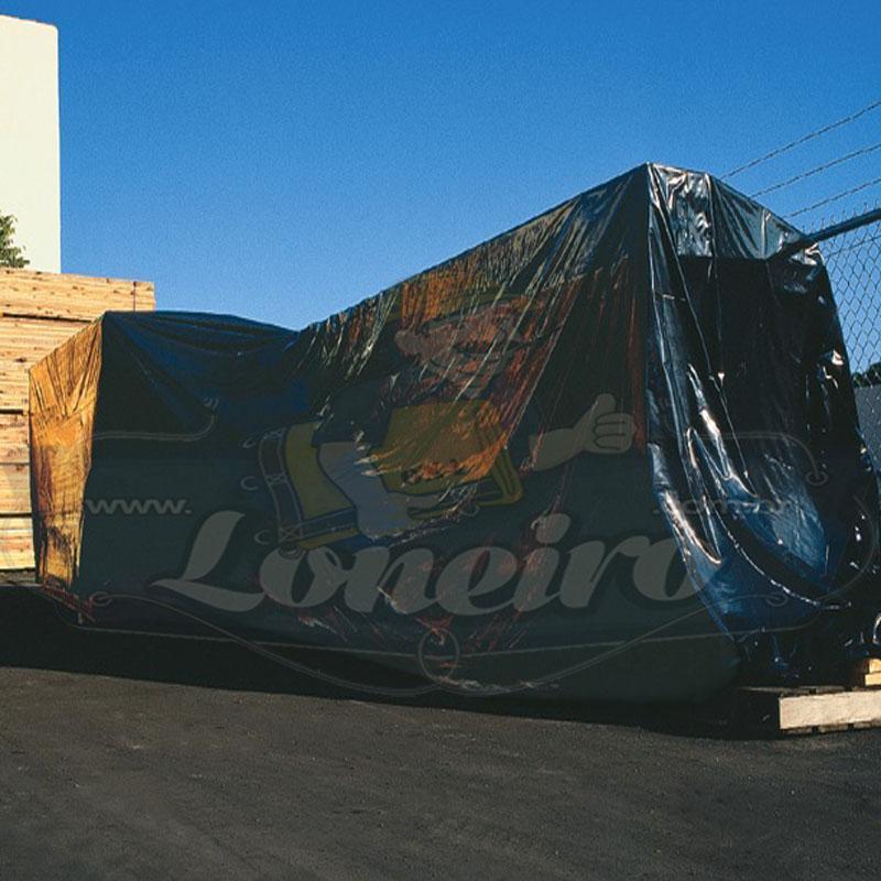 Lona: 15,0 x 5,0m PVC Premium Caminhão Vinil Vinílica Preto Fosco AntiChamas com 23 LonaFlex Gancho 25cm e 23 LonaFlex Gancho 50cm 1 ROW 0,75m