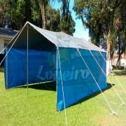 ad. LONA BARRACA AZUL CINZA LONEIRO IMPERMEÁVEL CAMPING PESCA  (1)