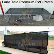 ad. LONA TELA PVC PERMEÁVEL PRETA SUPER RESISTENTE PREMIUM
