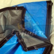 Lona 4,5 x 3,5m Loneiro 500 Micras PPPE Azul e Cinza com argolas