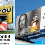 add. Lona PVC Frontlit Flex Banner 440gsm (13oz) 300D500D 1812 para impressao poster propaganda