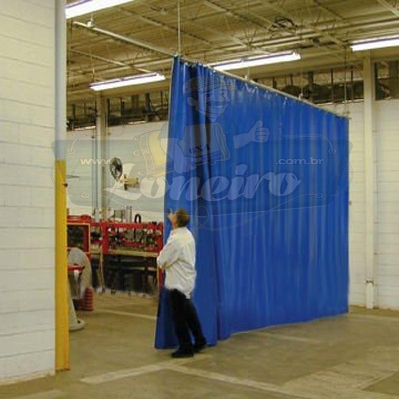 Lona 4,0 x 3,5m Loneiro 500 Micras PPPE Azul e Cinza com argolas