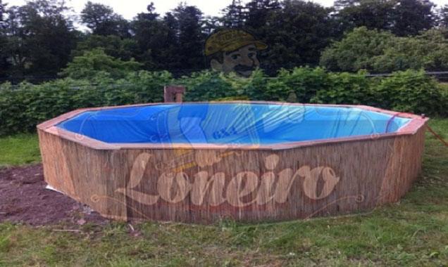 Como construir fazer uma piscina econ mica e barata com for Como hacer una piscina economica