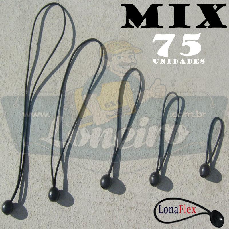 Elásticos Bola de Fixação LonaFlex MIX com 75 Unidades