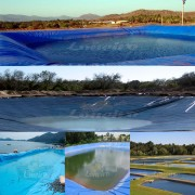 Lona para Lago Tanque de Peixes PP/PE: 13,5m de diâmetro Redonda Azul/Cinza para Lagos Artificiais, Armazenagem de Água e Cisterna